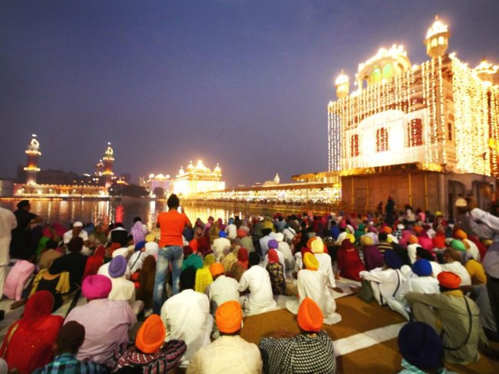 Devotees at The Golden Temple Amritsar
