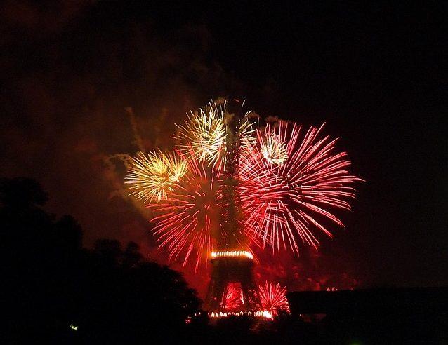 """Eiffel Tower fireworks"""