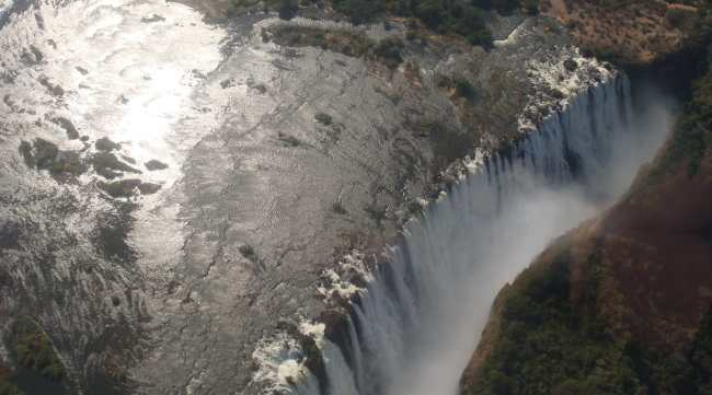 """""""Victoria Falls from a helicopter"""""""