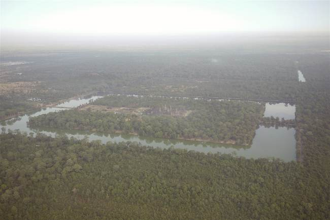 """Angkor Wat from an helicopter"""