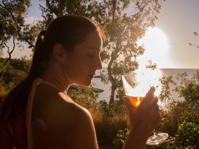 """Sunset drinks at Lizard Island Resort"""
