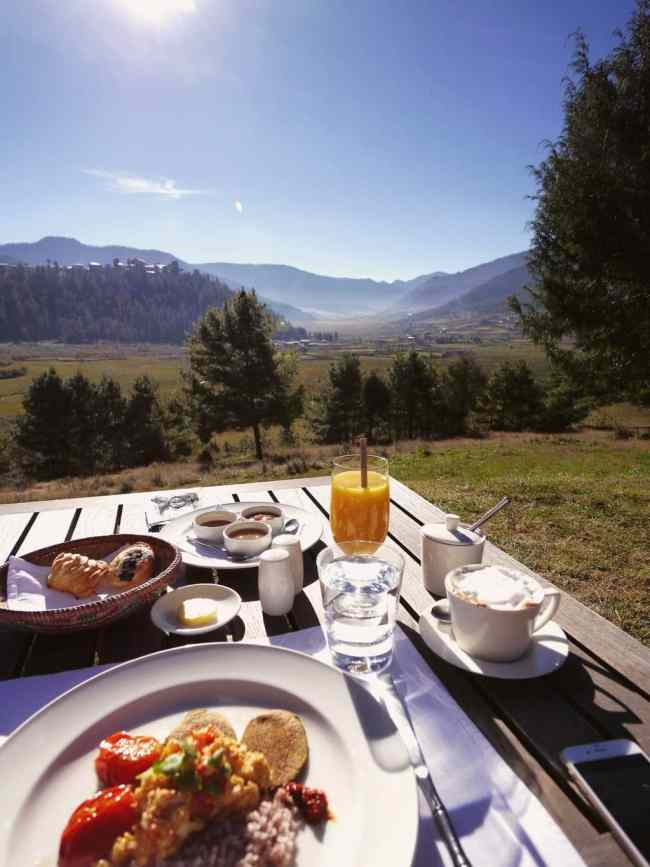"""'Breakfast with a view at Amankora Gangtey"""""""
