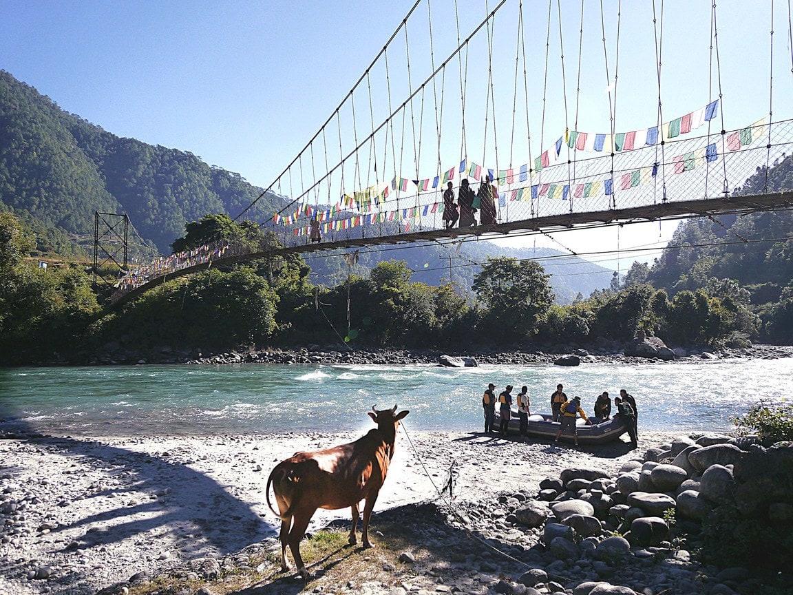 White water rafting in Punakha