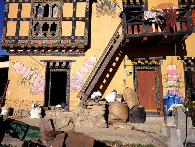 """Village next to Fertility temple Chimi Lhakhang"""