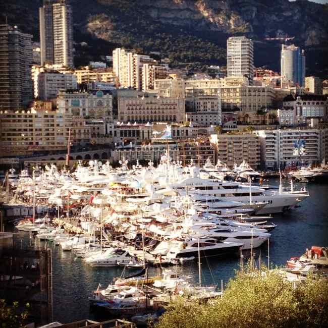 Luxury yachts docked at Monaco's Port