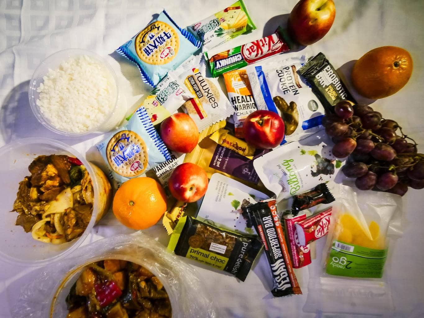 Snacks on the train to Lhasa