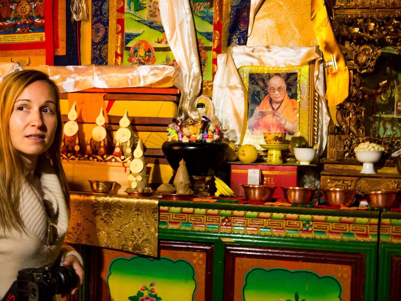 Forbidden image of the Dalai Lama