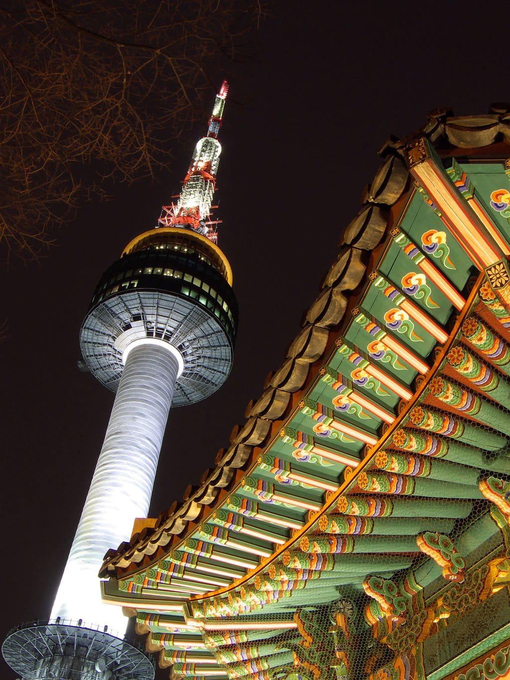 N Seoul Tower at night
