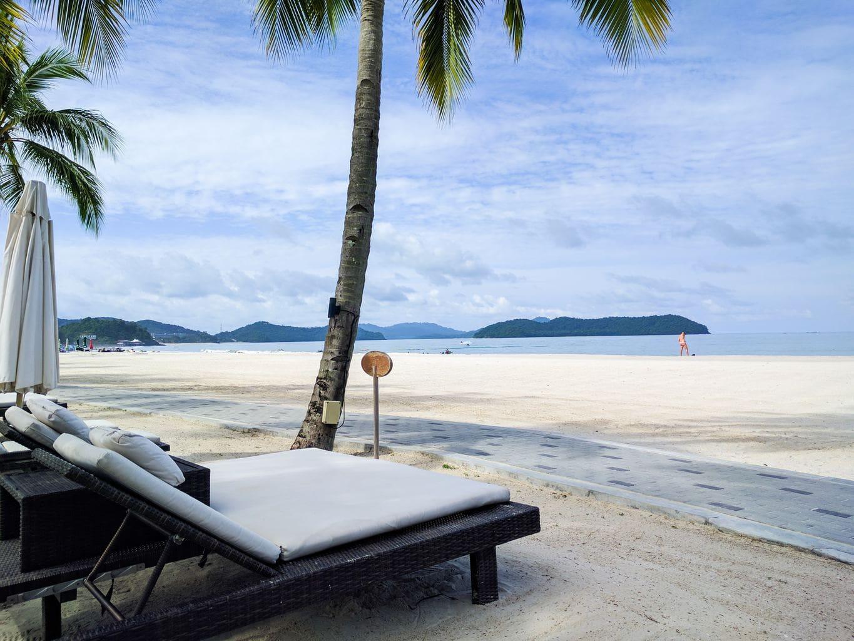 Beach lounger at Casa Del Mar