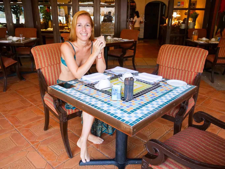 Tiled table tops and a hacienda theme