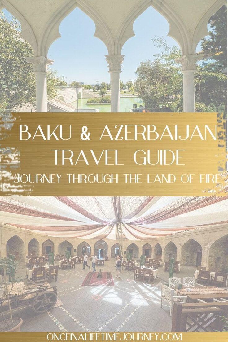 Azerbaijan travel guide pin