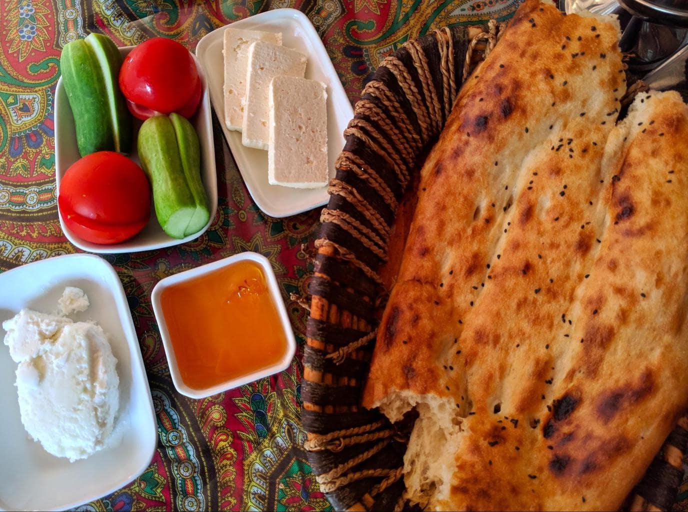 Azerbaijan breakfast