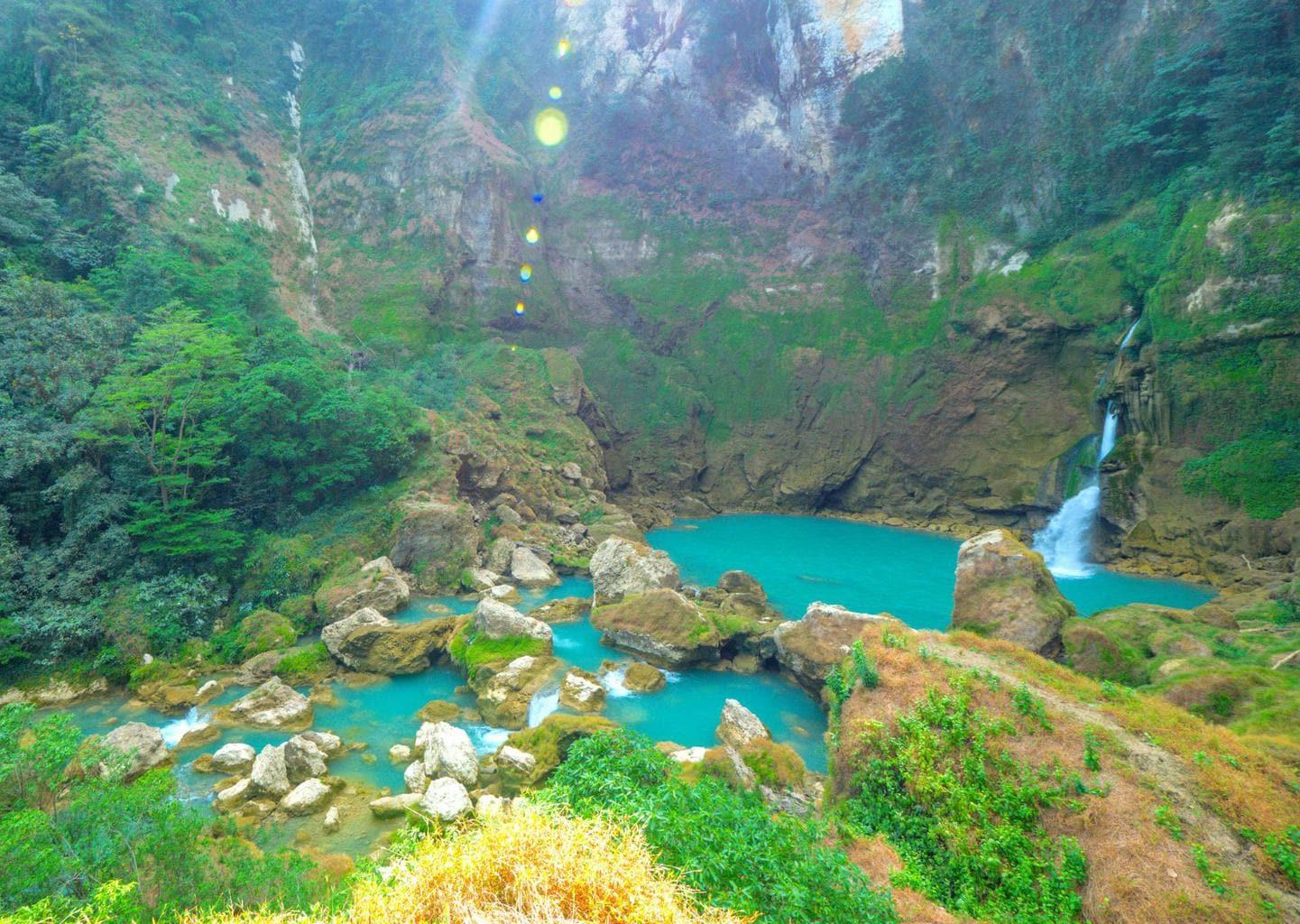 Nihi Sumba Hotel review, Blue waterfall