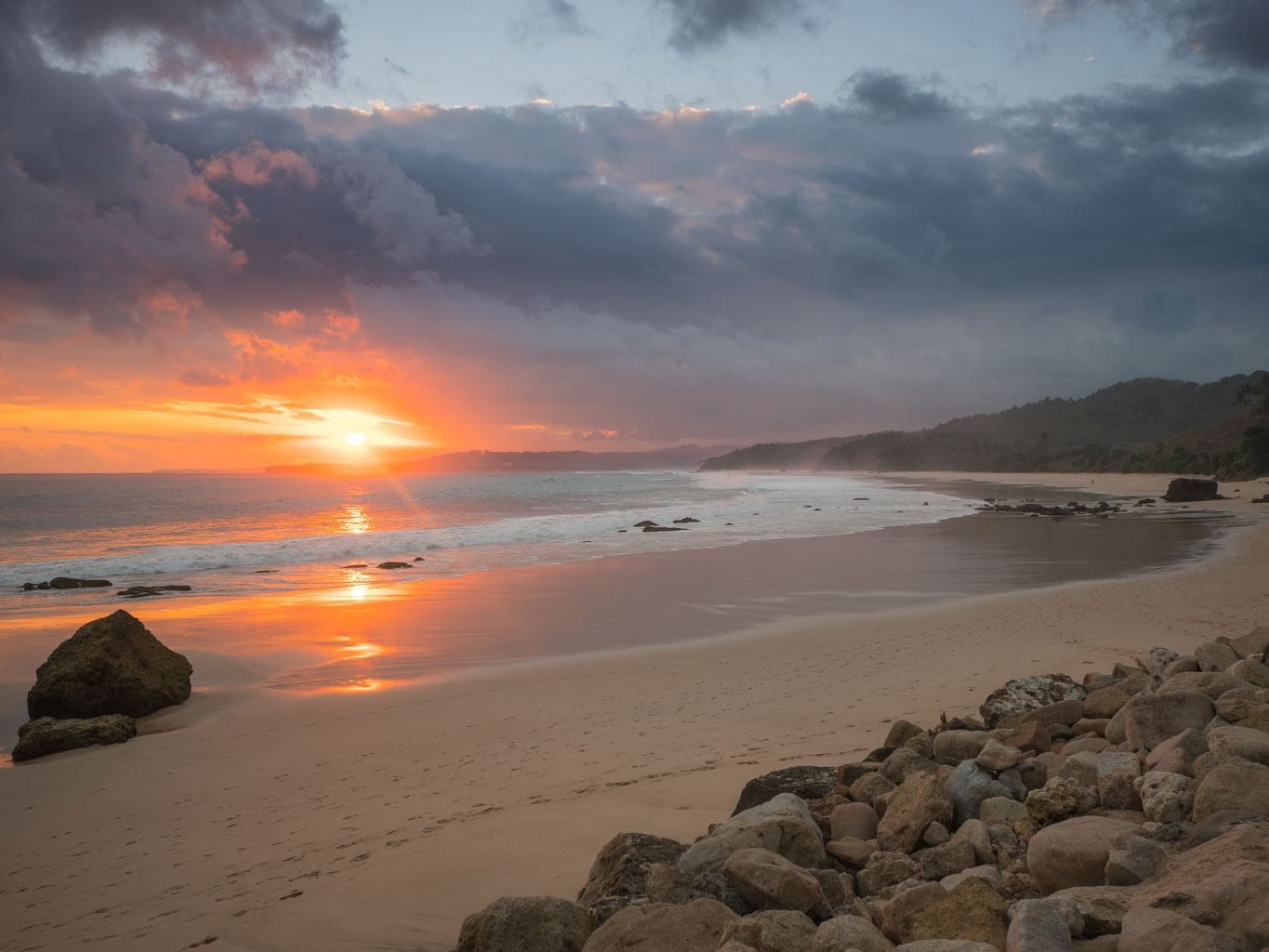 Nihi Sumba Hotel review, Sunset View of the beach
