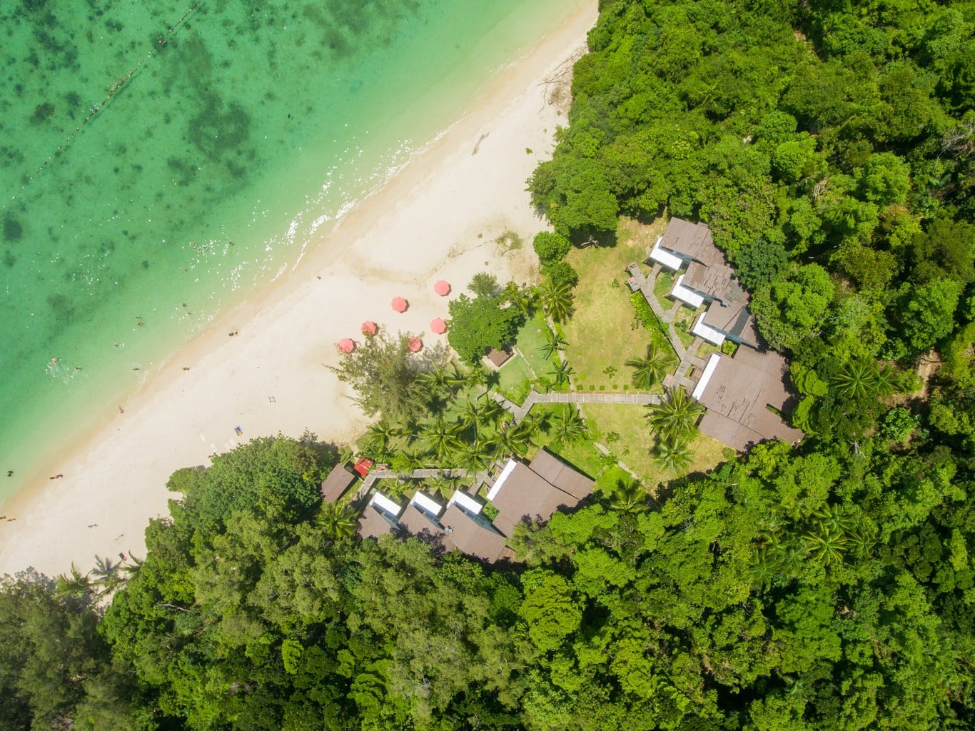 Drone of Manukan island resort