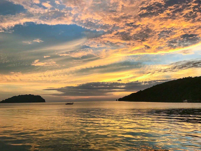 Sunset at Manukan island Resort