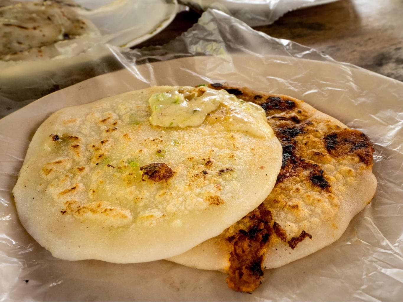 Pupusa in El Salvador