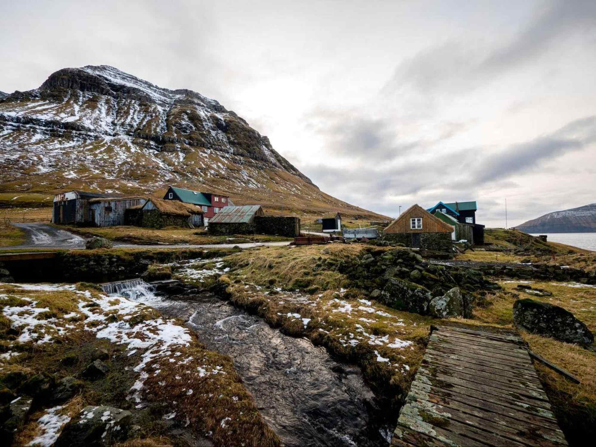 Faroe Islands in the winter