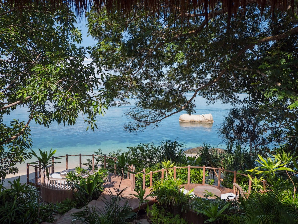 Breakfast views on Cempedak Island