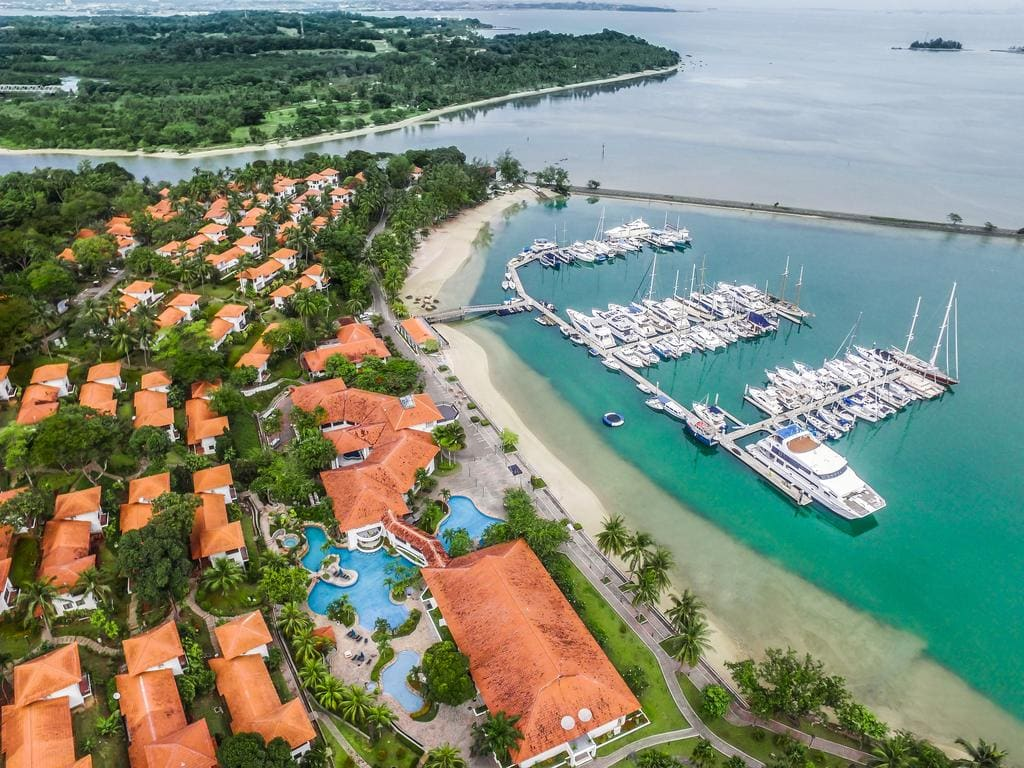 Nongsa Point Marina is popular for day visitors with yachts
