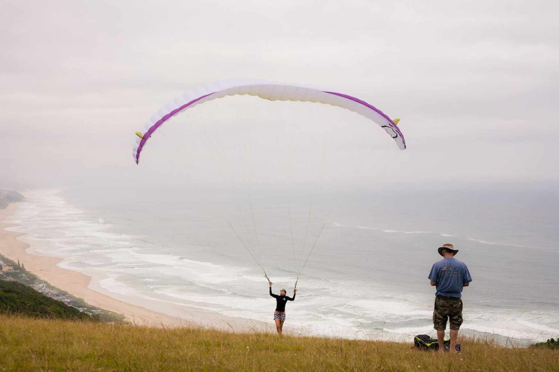 Paragliding over Wilderness Beach