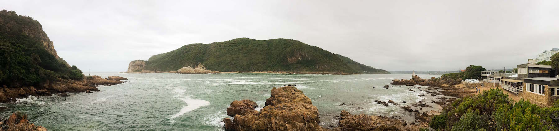 The Knysna Heads from East Head Cafe
