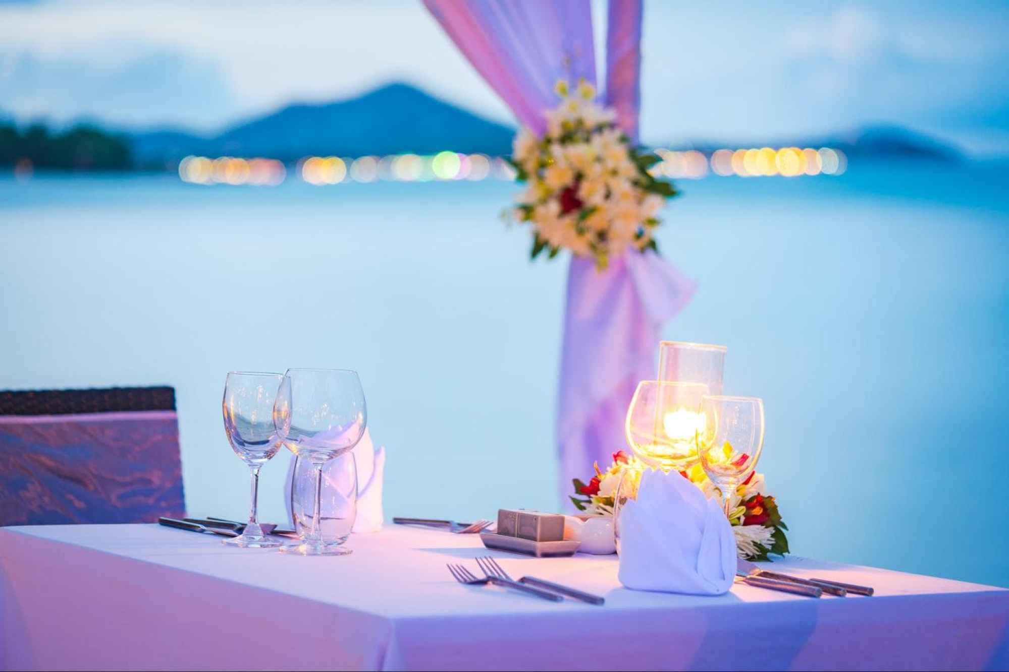 A romantic dinner on the beach for two at Impiana Chaweng Noi