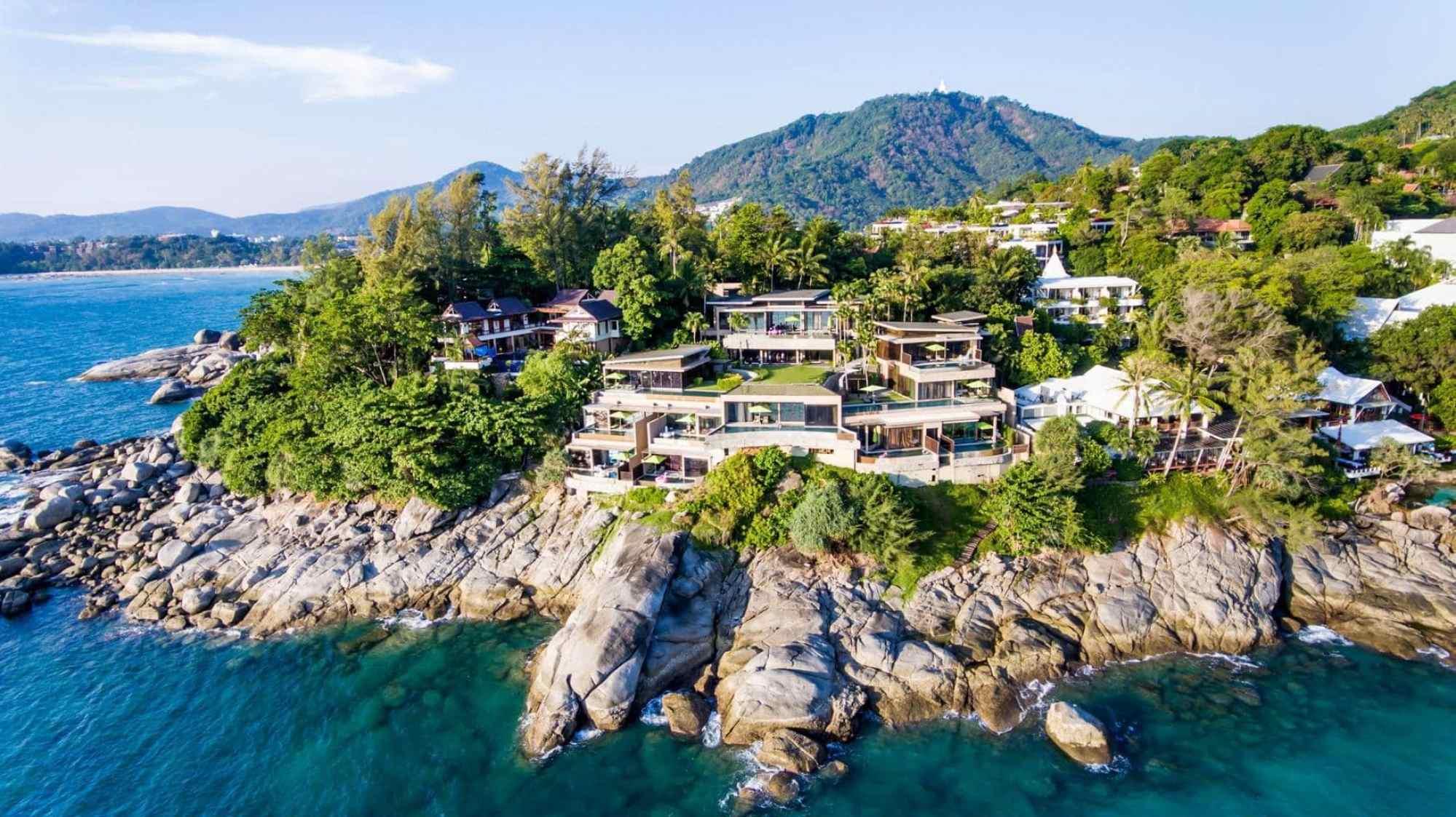 Drone shot of Impiana Private Villas