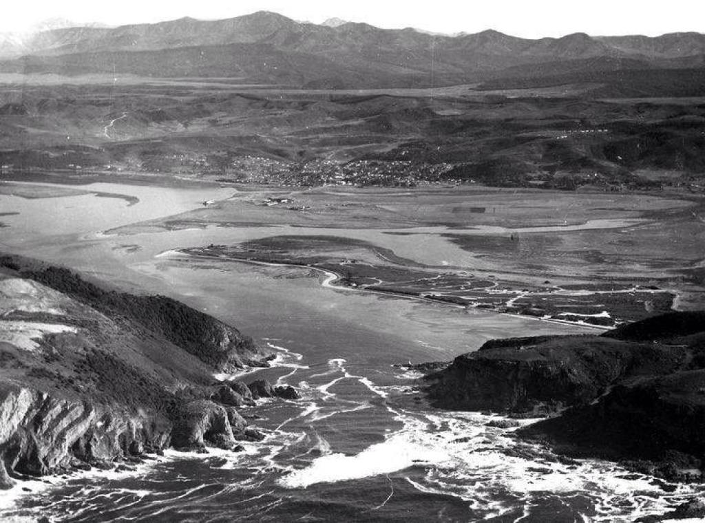 Knysna from above in 1958