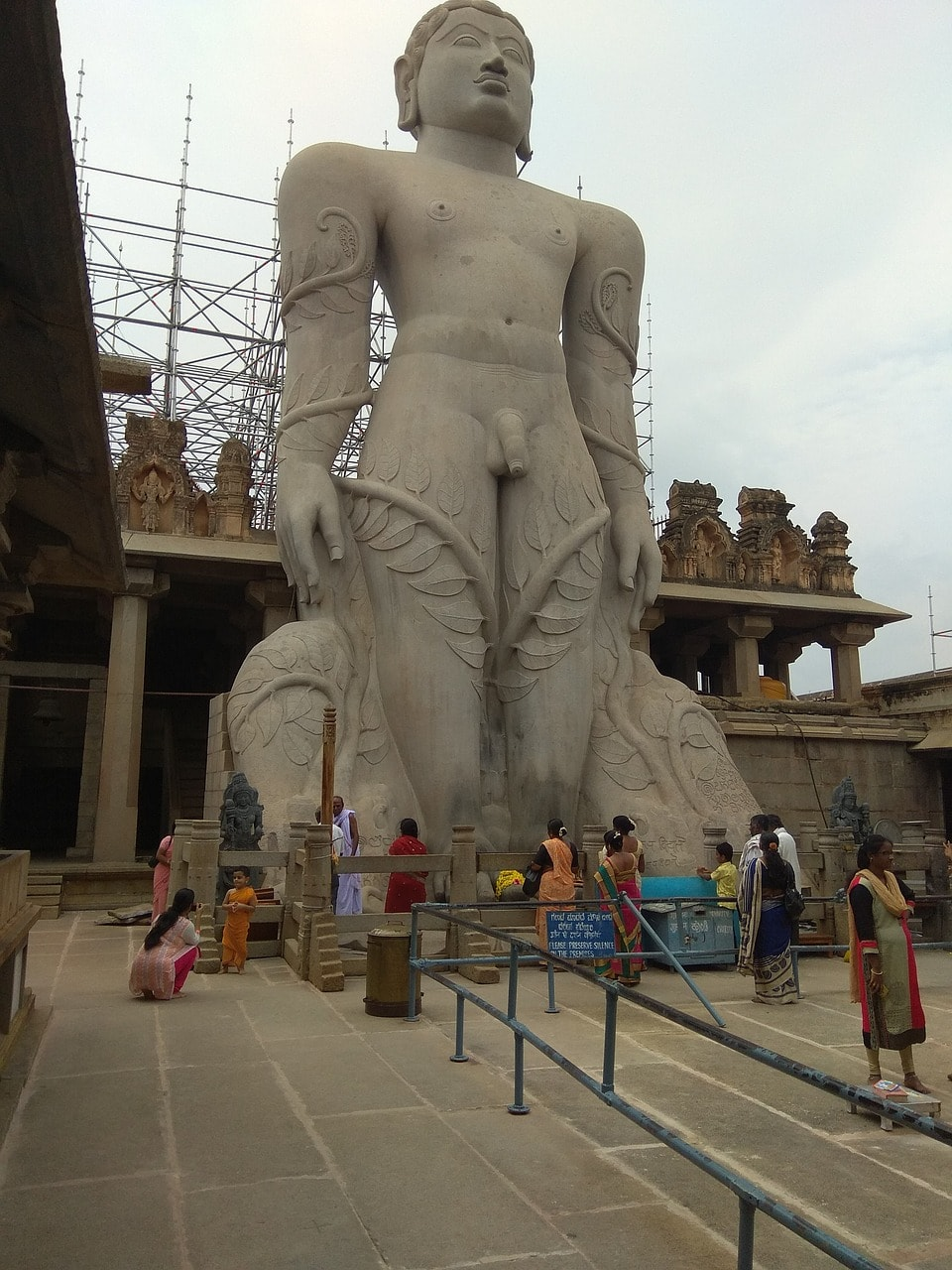 Gomateshwara Bahubali statue at Shravanabelagola