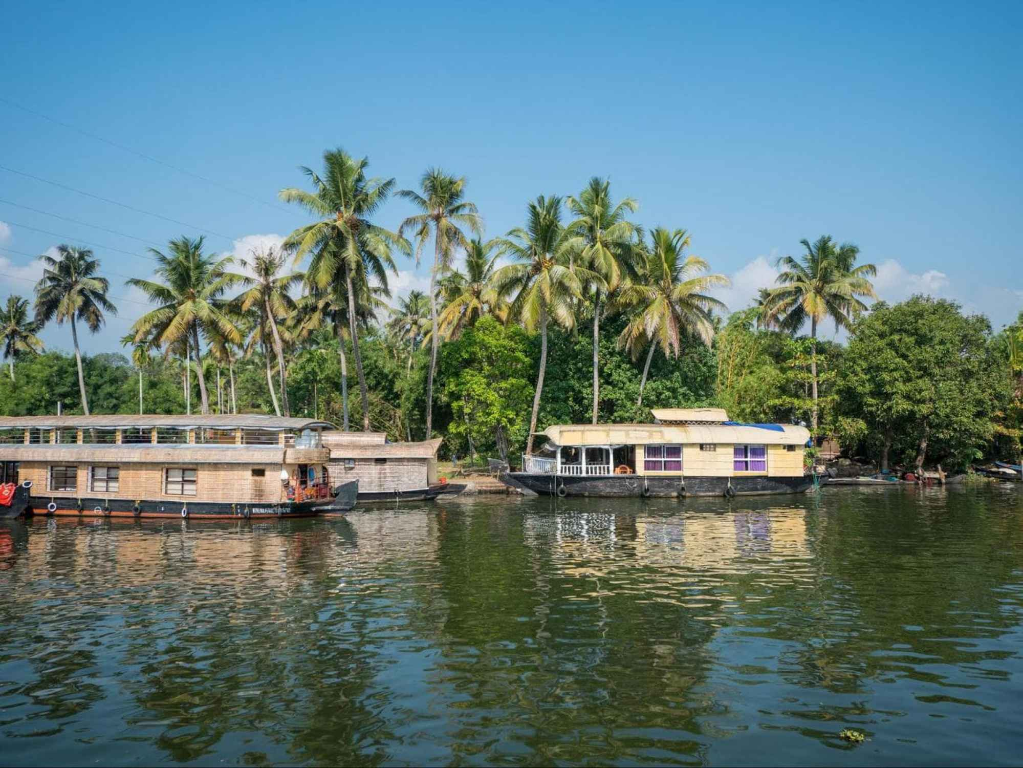 The backwaters of Kerala in India