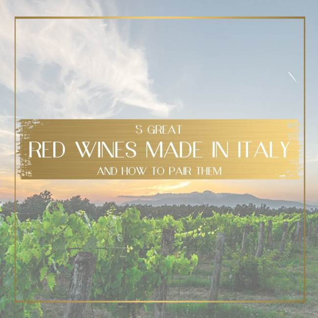 Red wines made in Italy feature