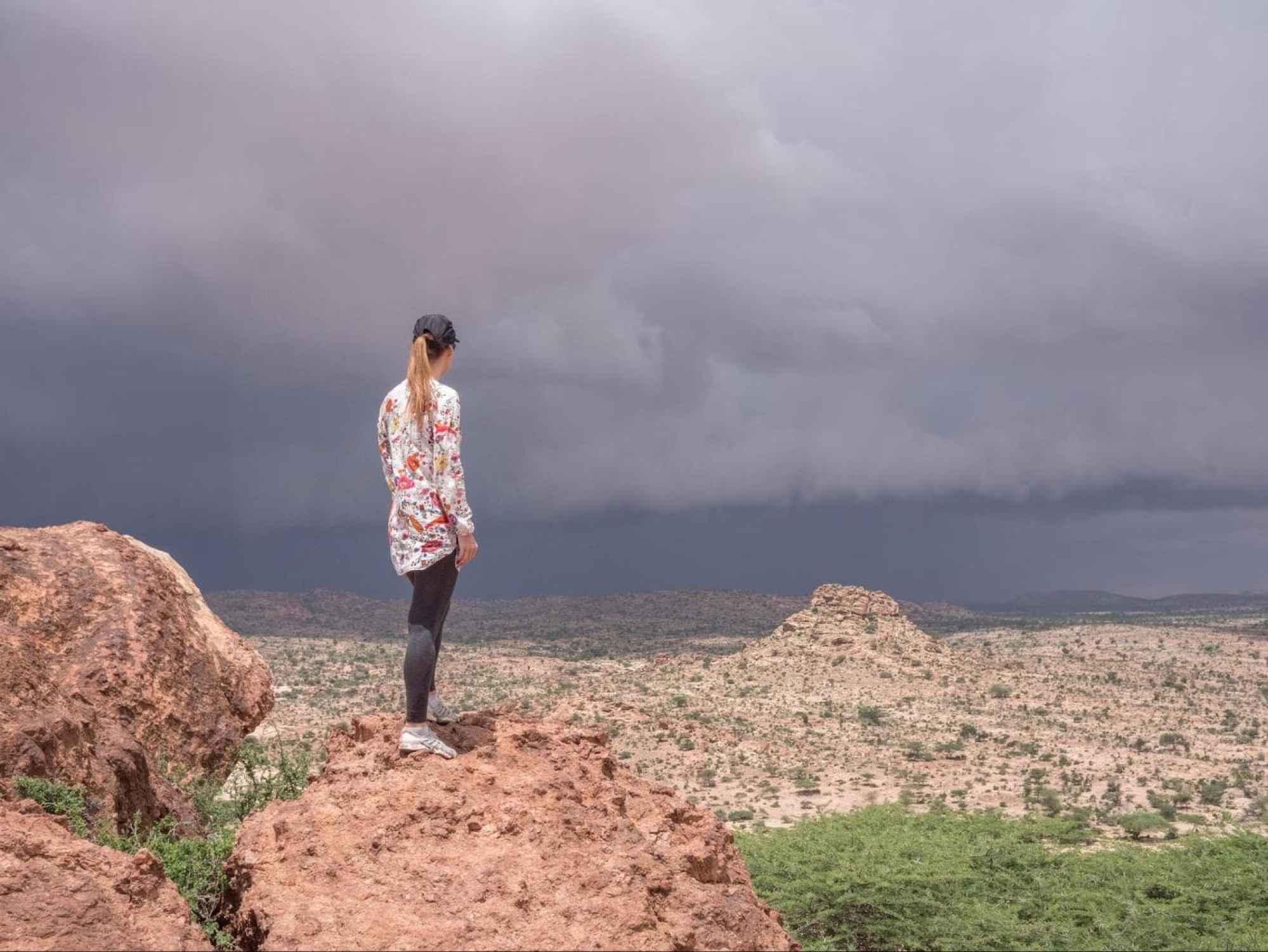 The highest point in Laas Geel