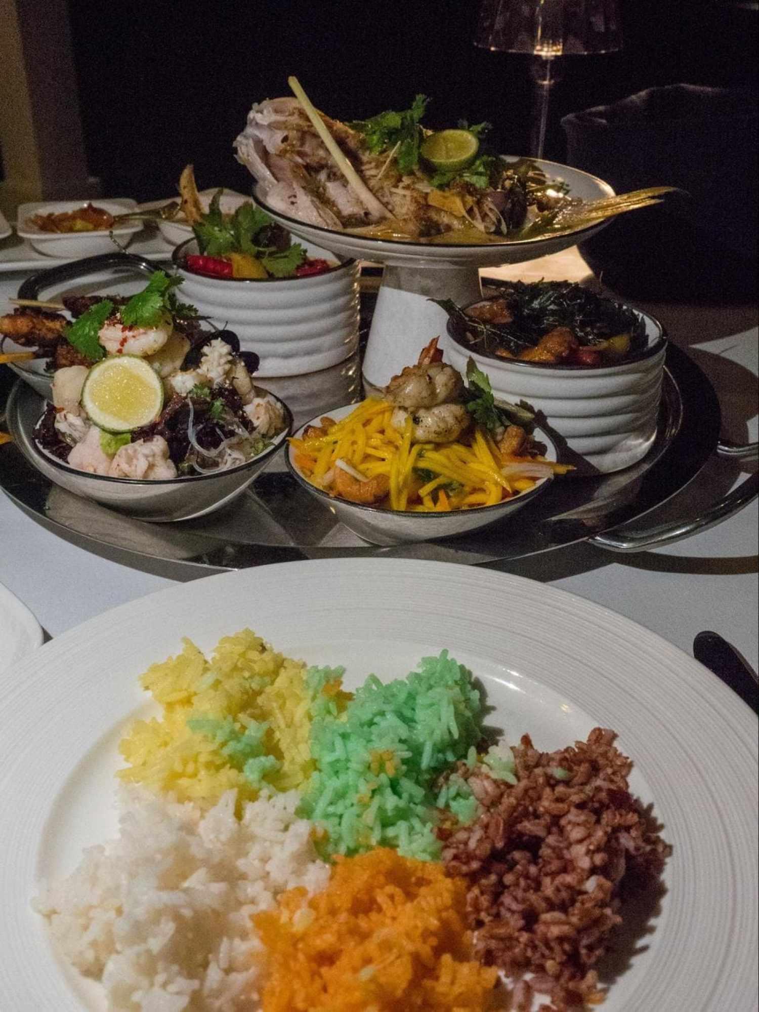 Thai sharing dinner at The Sanchaya