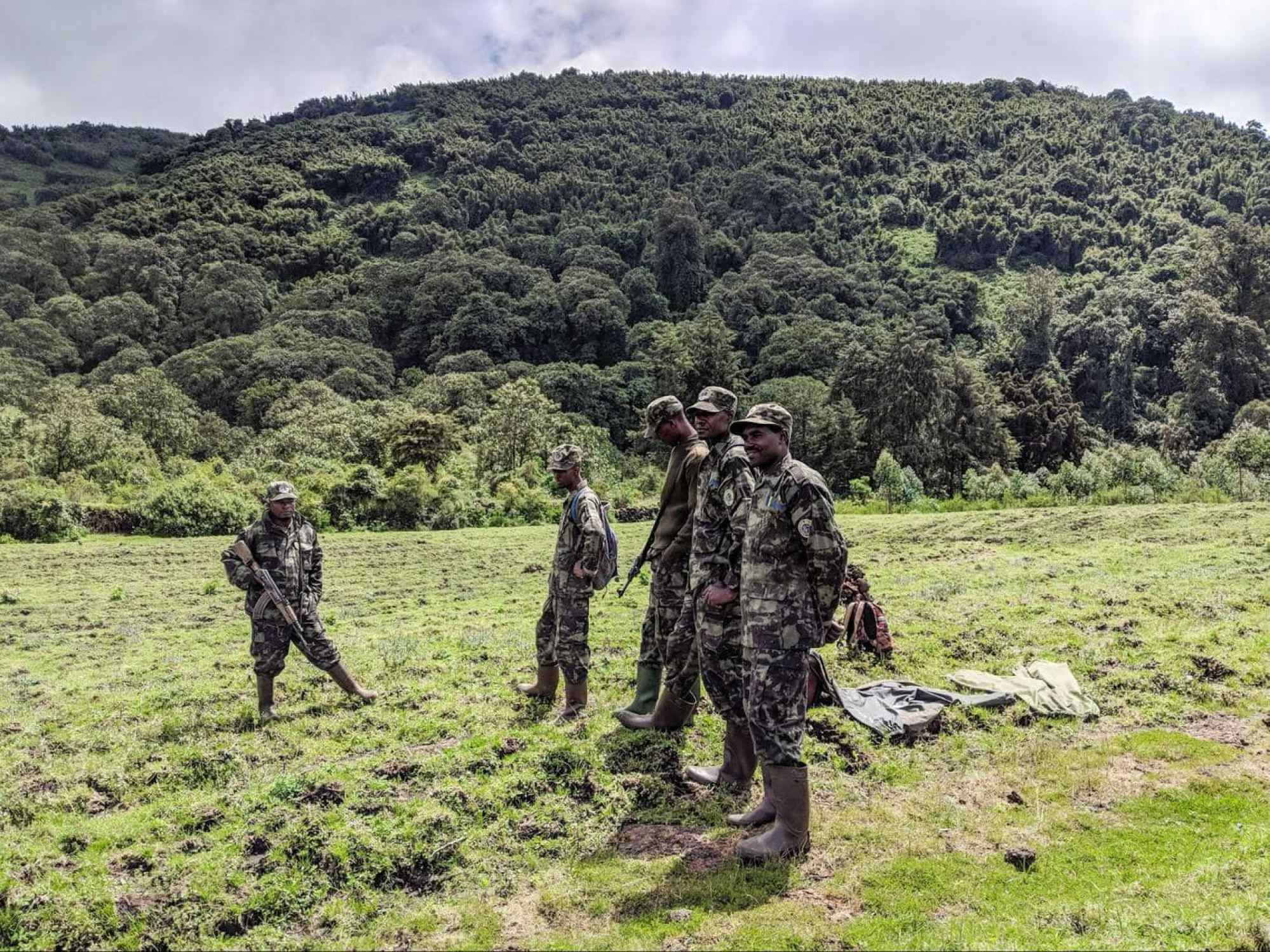 The gorilla trackers in Rwanda