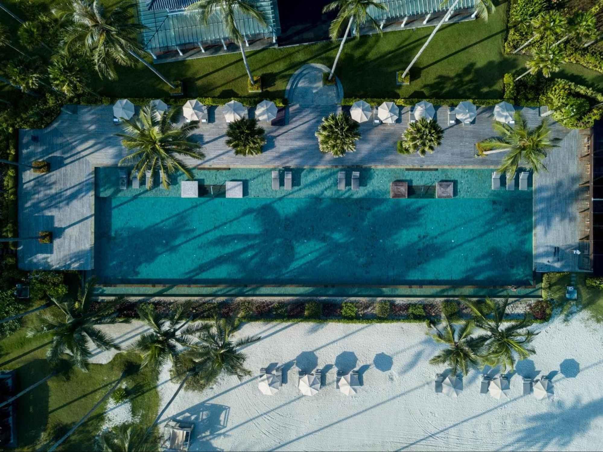 The pool at The Sanchaya