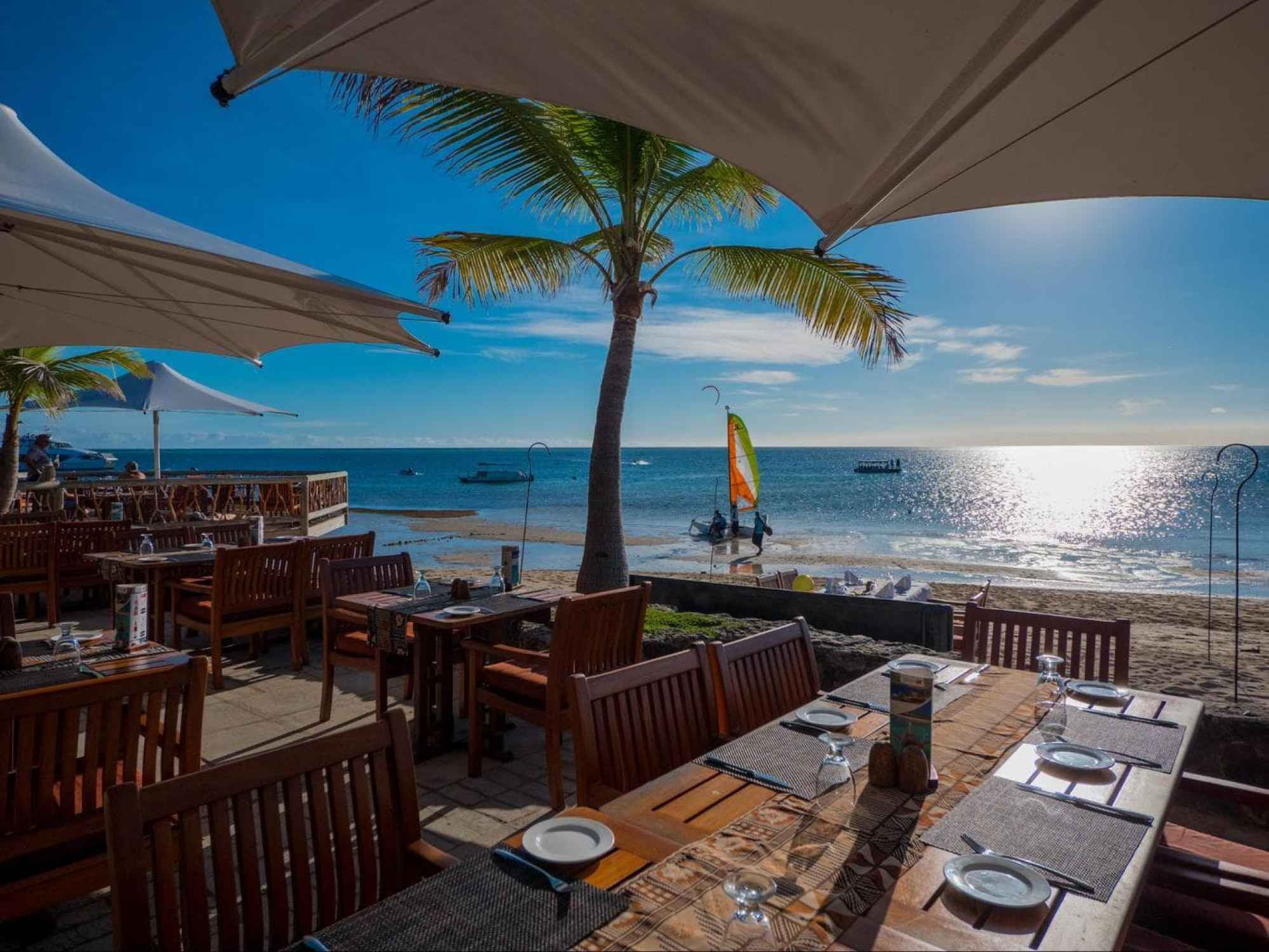 Water's Edge restaurant at sunset