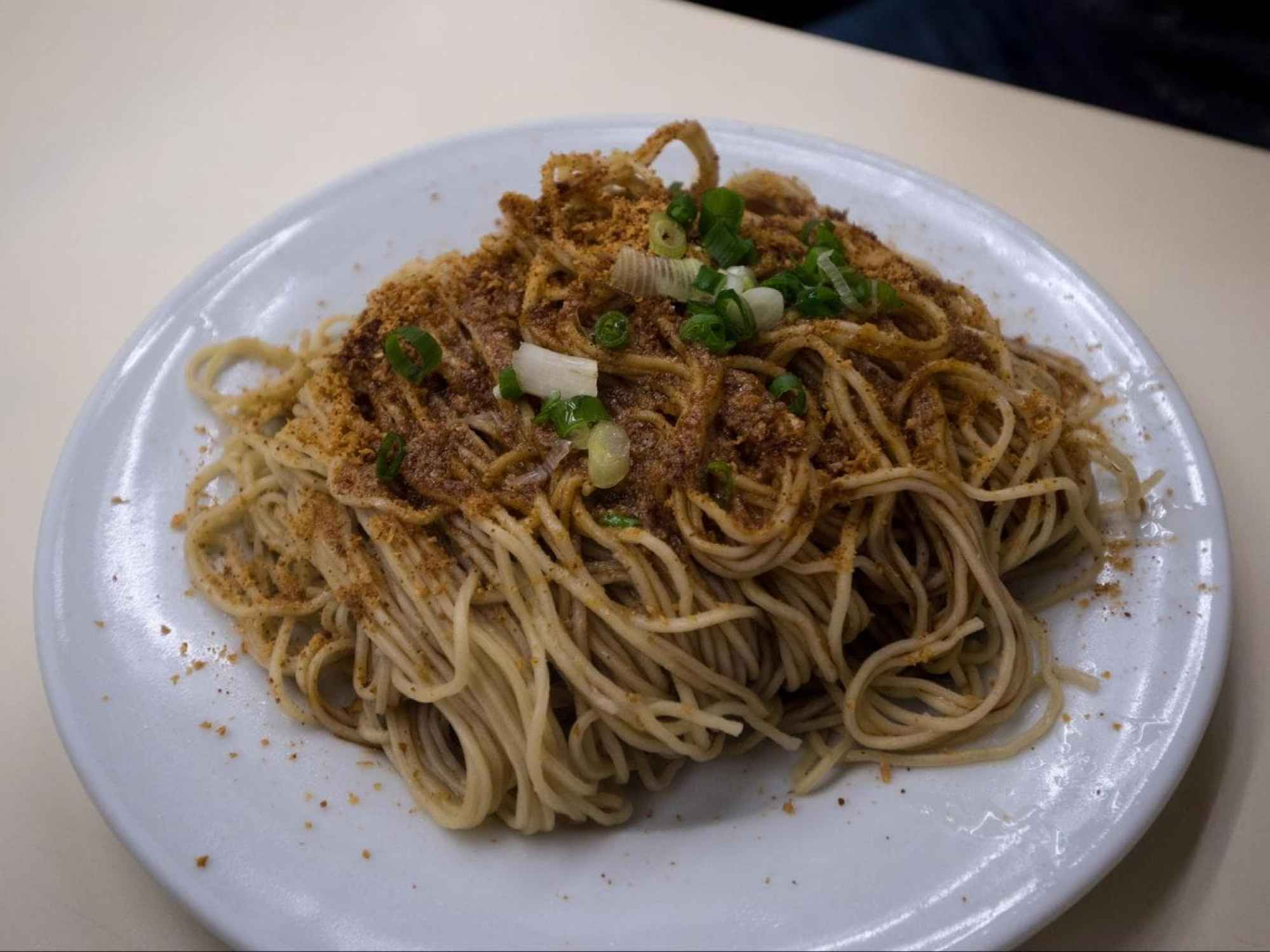 Noodles with prawn roe