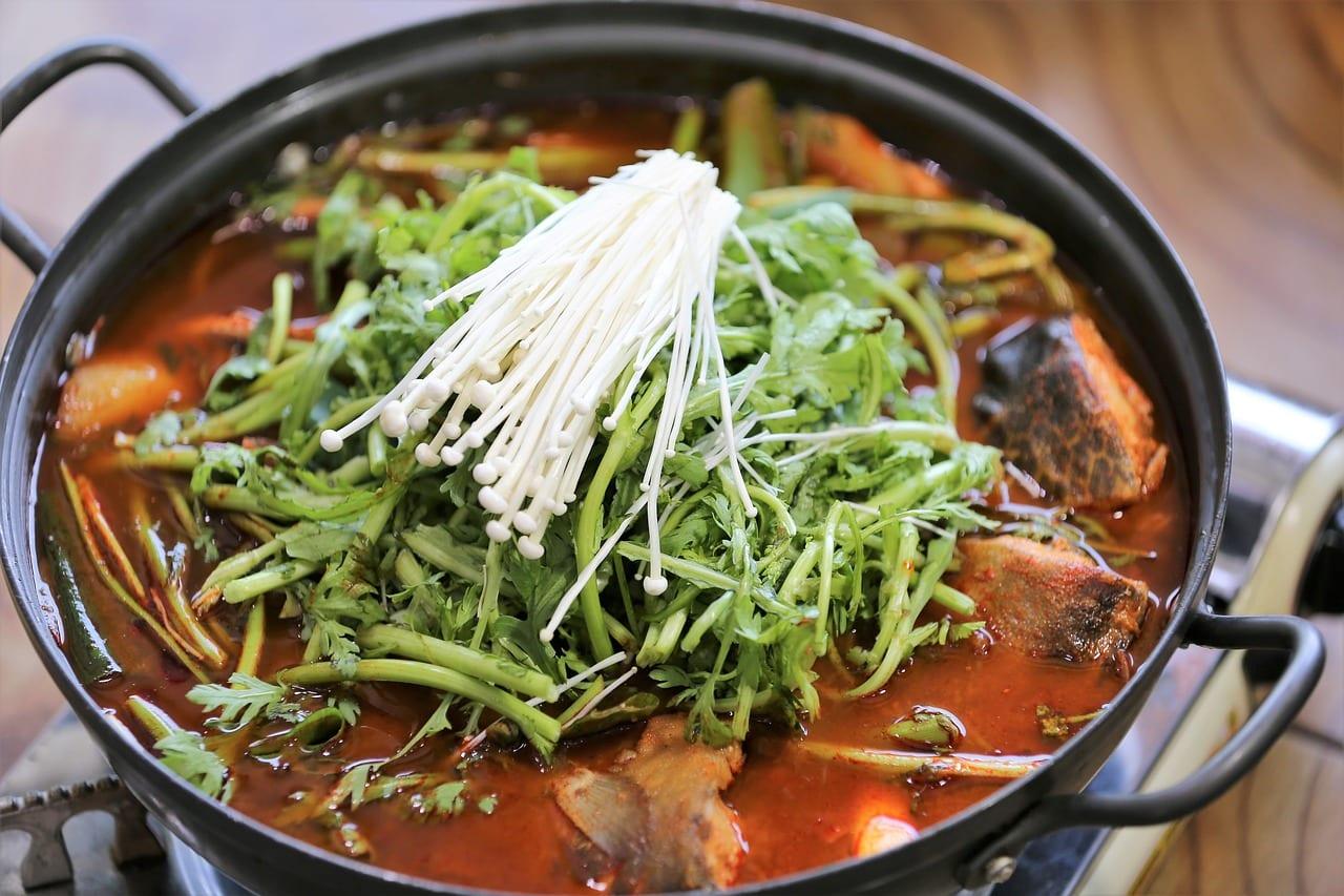 Scrumptious spicy fish broth