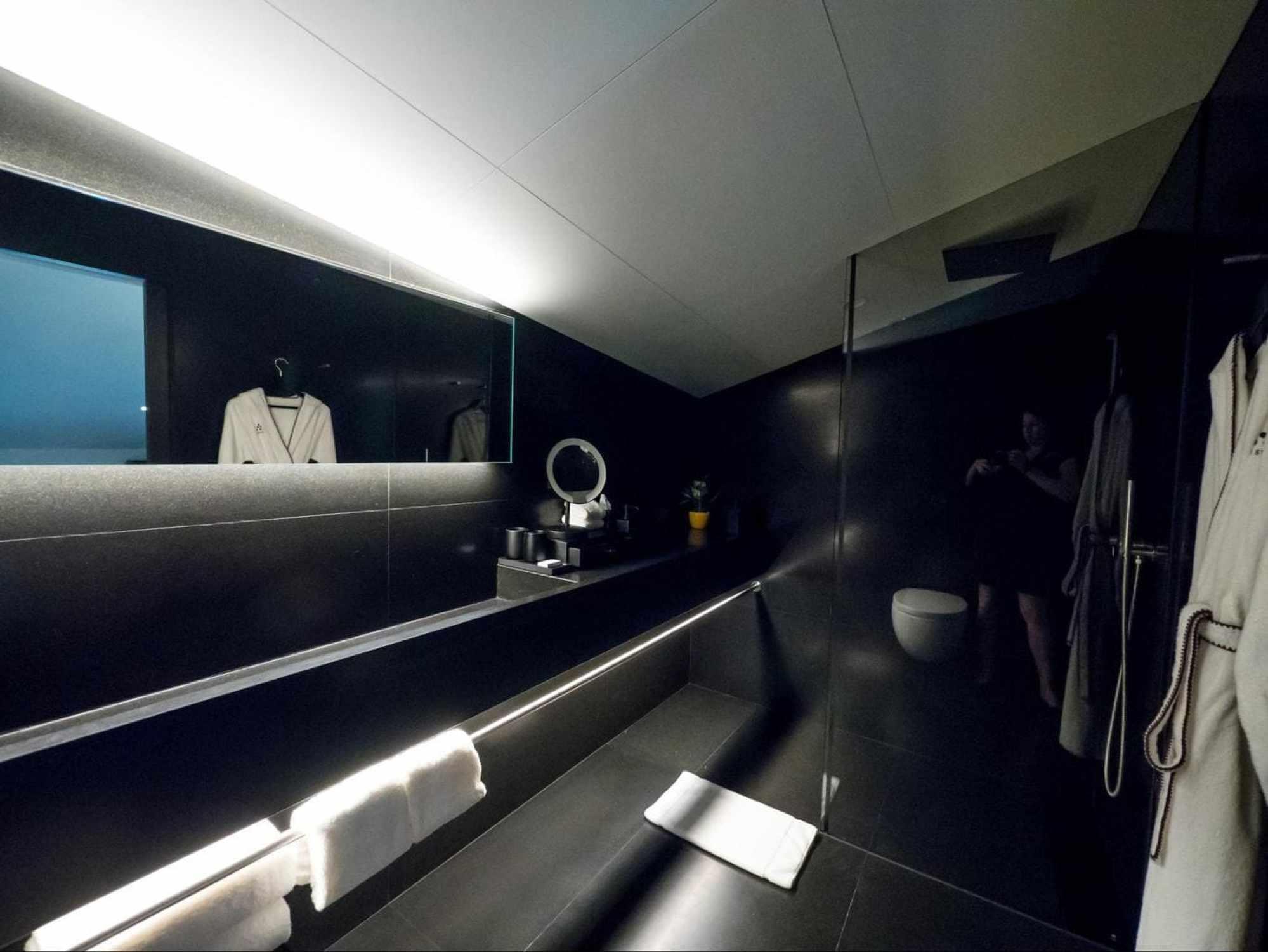 The bathroom upstairs at Six Senses Duxton Duplex Suite