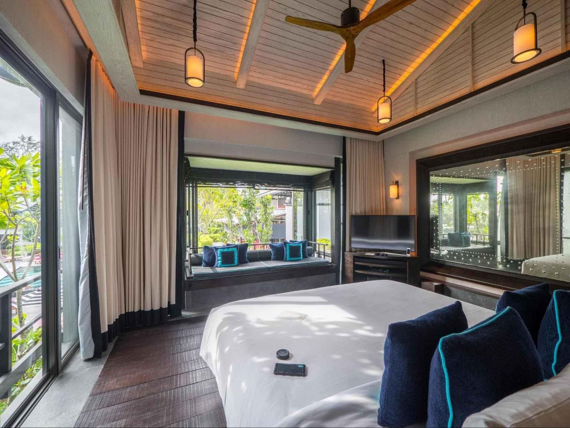 First floor bedroom at the gabanas at Baba Beach Club Phuket