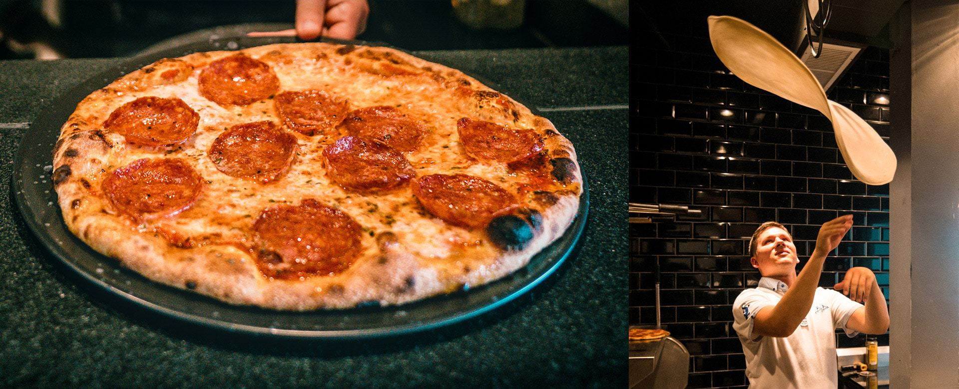 Homemade pizzas and pizzaiolo at Baba Beach Club - Photo courtesy of Baba Beach Club Phuket
