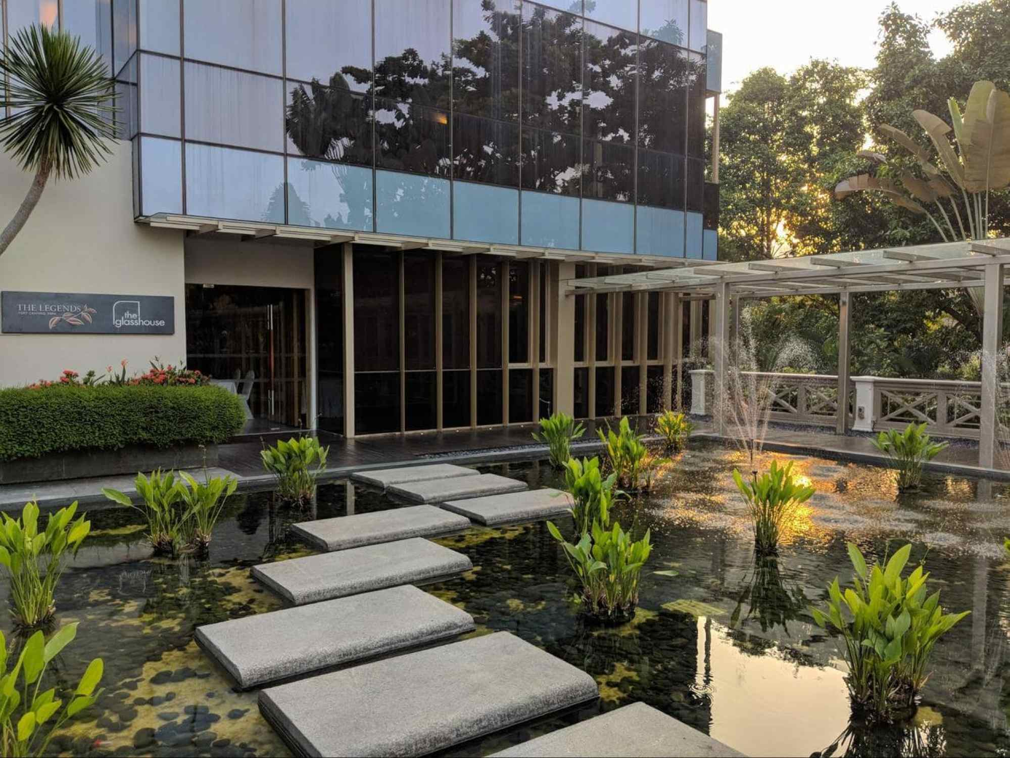 The Glasshouse events building at Hotel Fort Canning