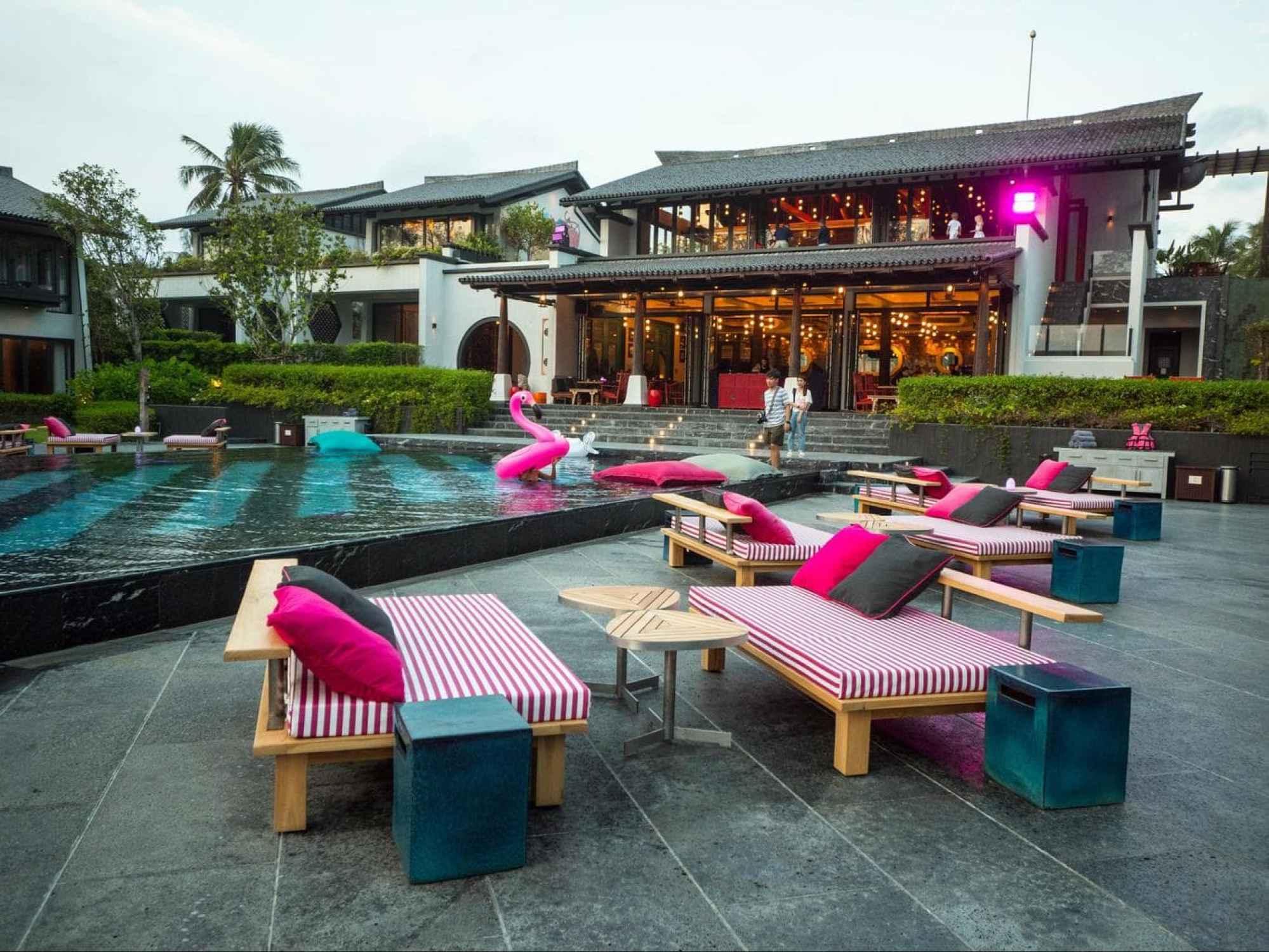 The pool at Baba Beach Club