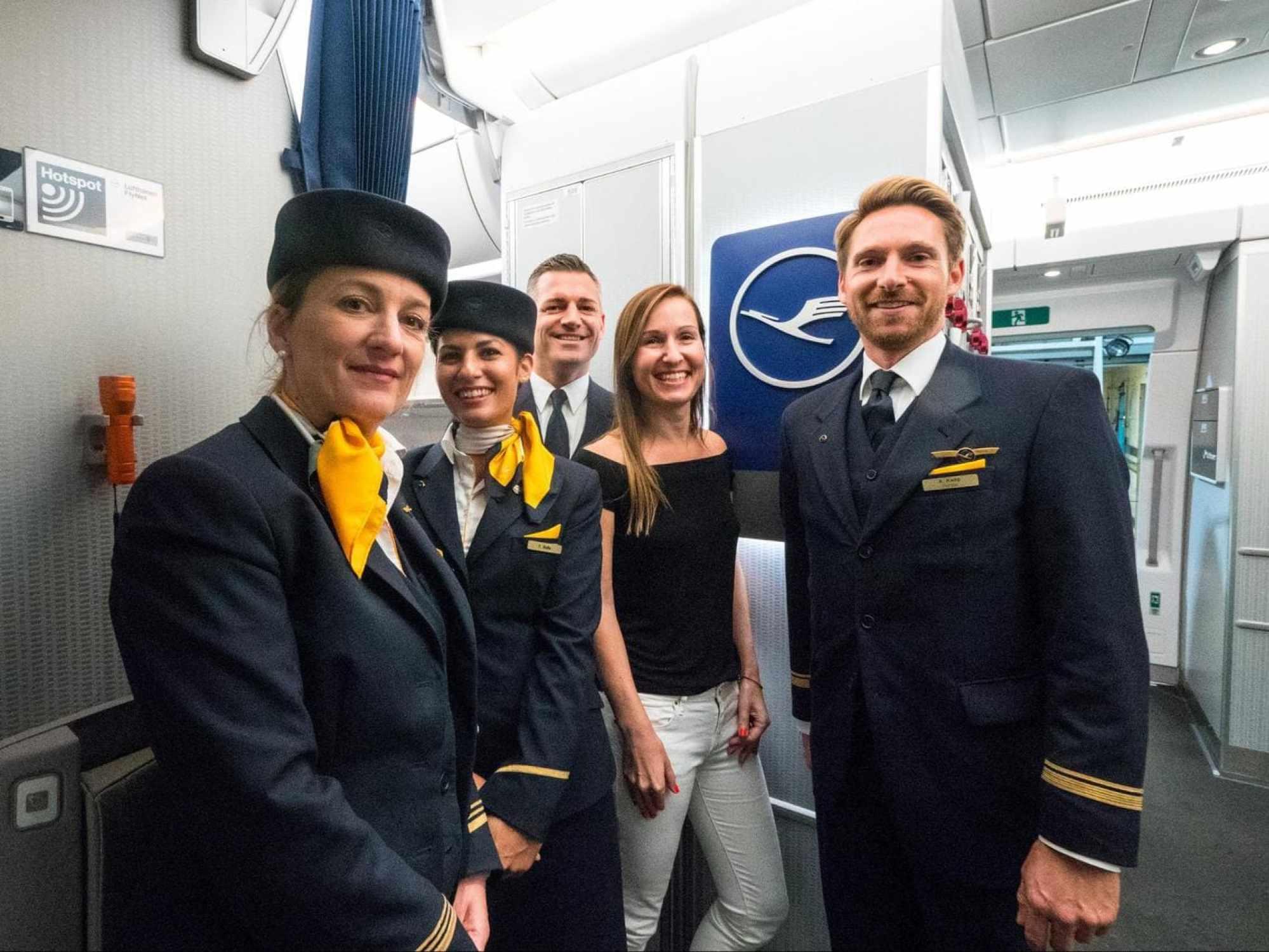 The Business Class crew onboard my flight