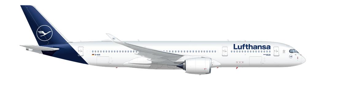 The new Lufthansa color scheme