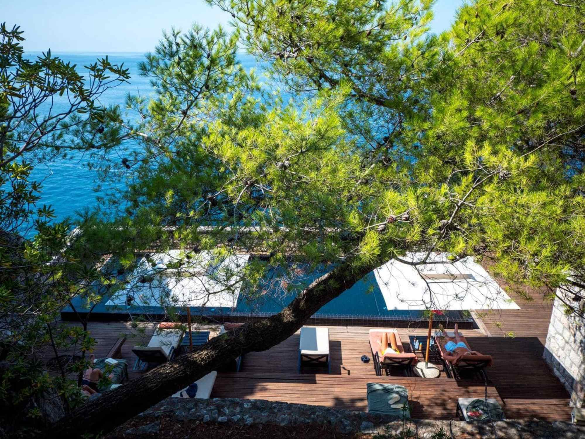 Adults-only pool at Sveti Stefan