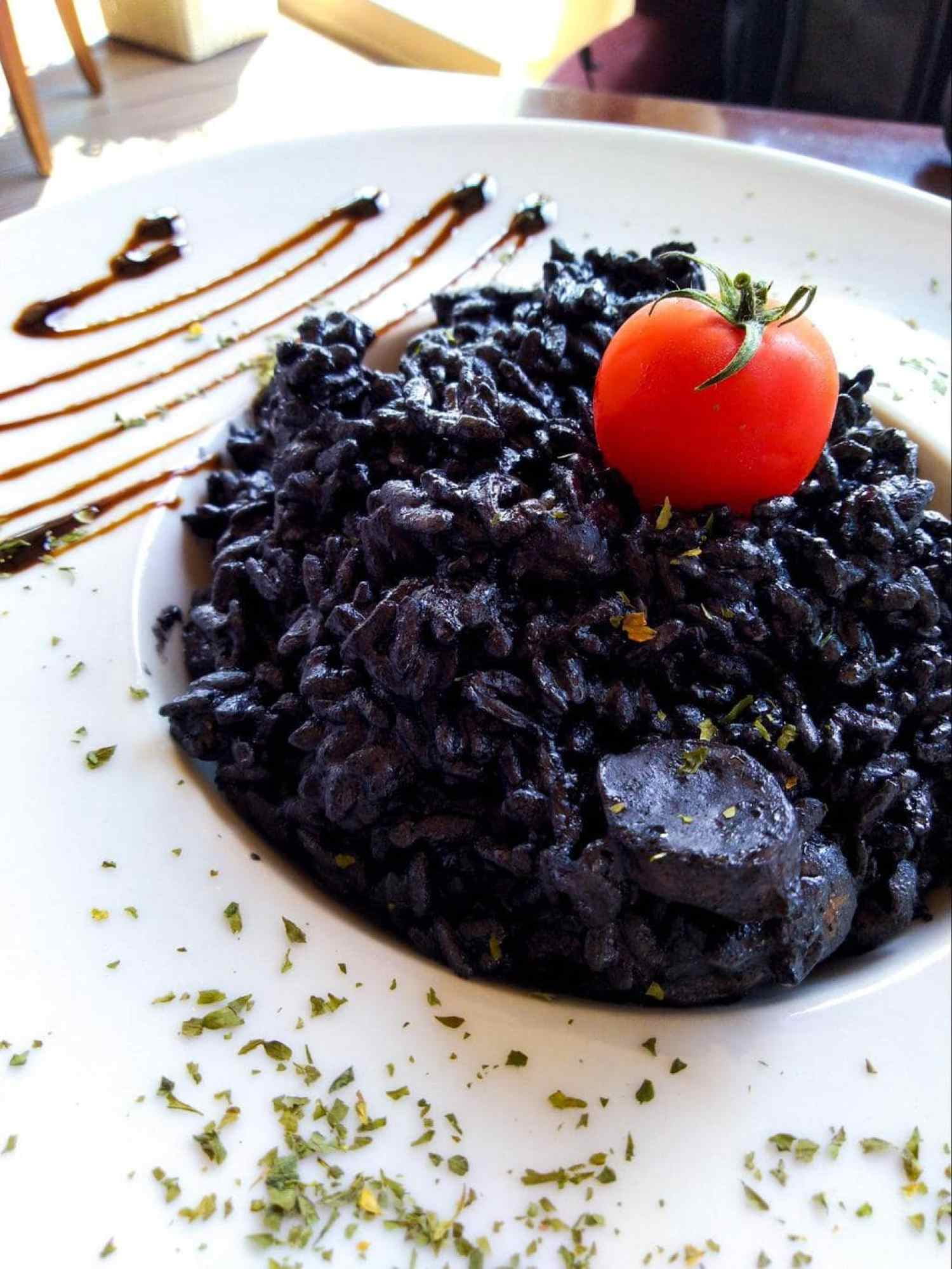 Another version of Montenegrin black risotto
