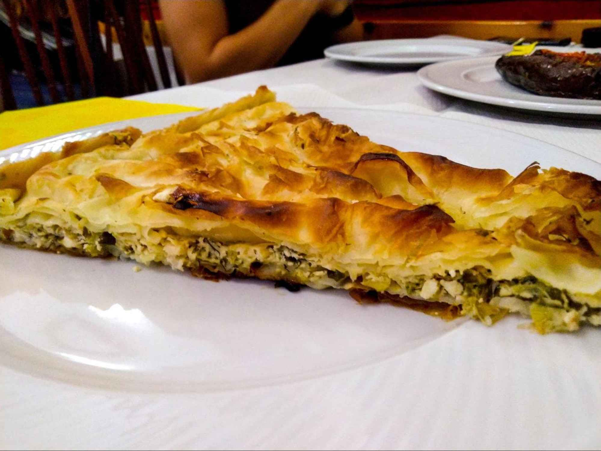Cheese and spinach byrek