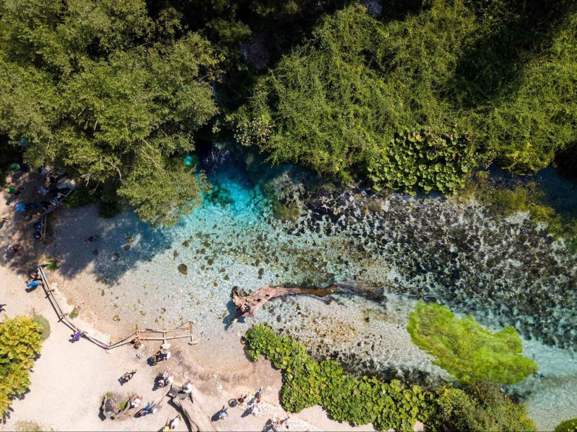 Drone shot of The Blue Eye